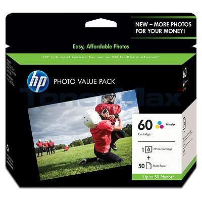 HP D2530 NO 60 INK CTG TRI-COLOR PHOTO VALUE PACK